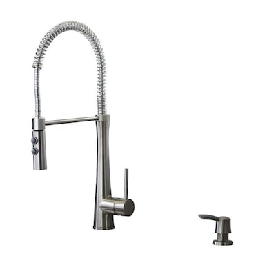 Fresco Stainless Steel 1-Handle Deck Mount Pre-rinse Residential Kitchen  Faucet