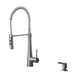 Giagni Fresco Stainless Steel 1 Handle Deck Mount Pre Rinse Kitchen Faucet