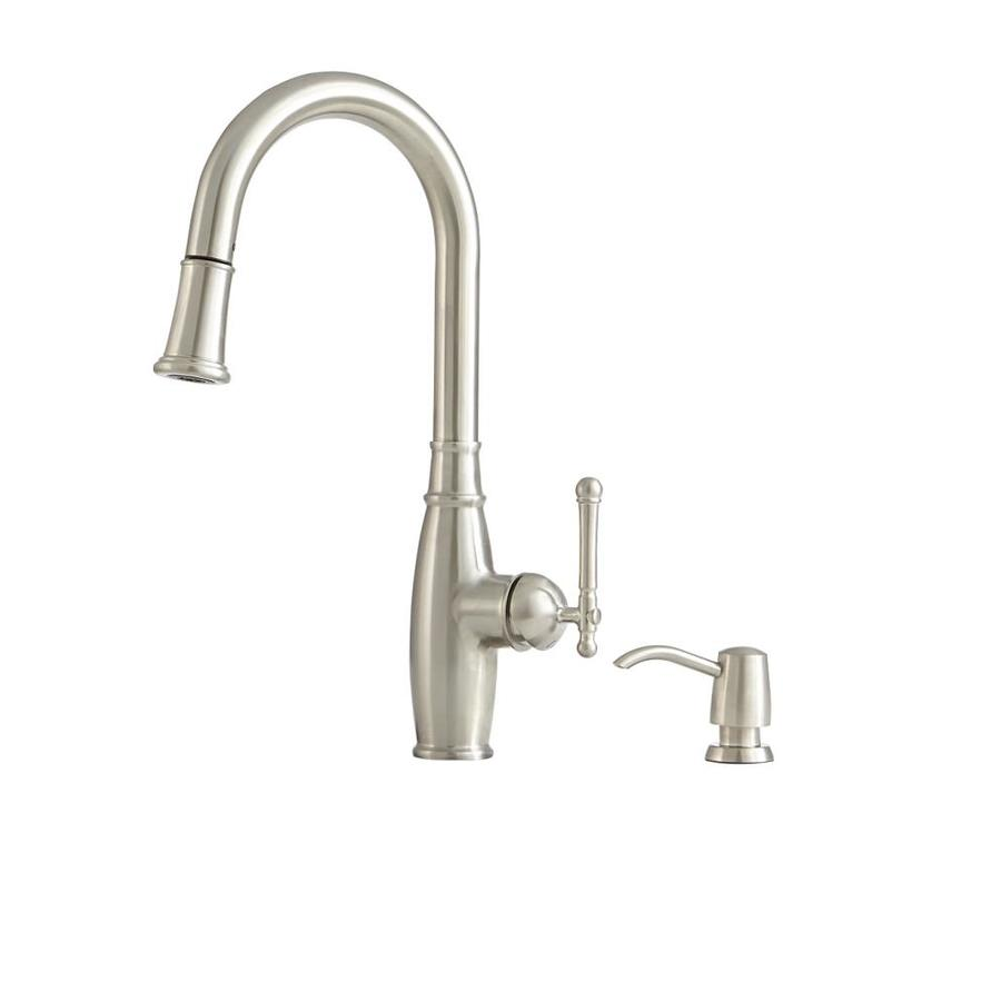 Giagni Vivace Stainless Steel 1 Handle Deck Mount Pull Down Kitchen Faucet