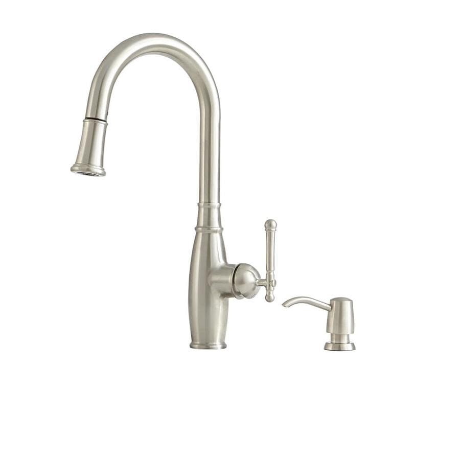 Superbe Giagni Vivace Stainless Steel 1 Handle Deck Mount Pull Down Kitchen Faucet