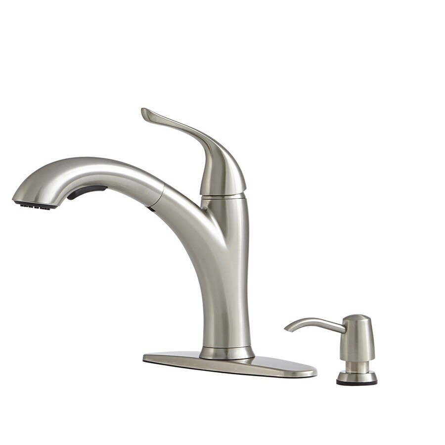 Giagni Abete Stainless Steel 1 Handle Deck Mount Pull Out Kitchen Faucet