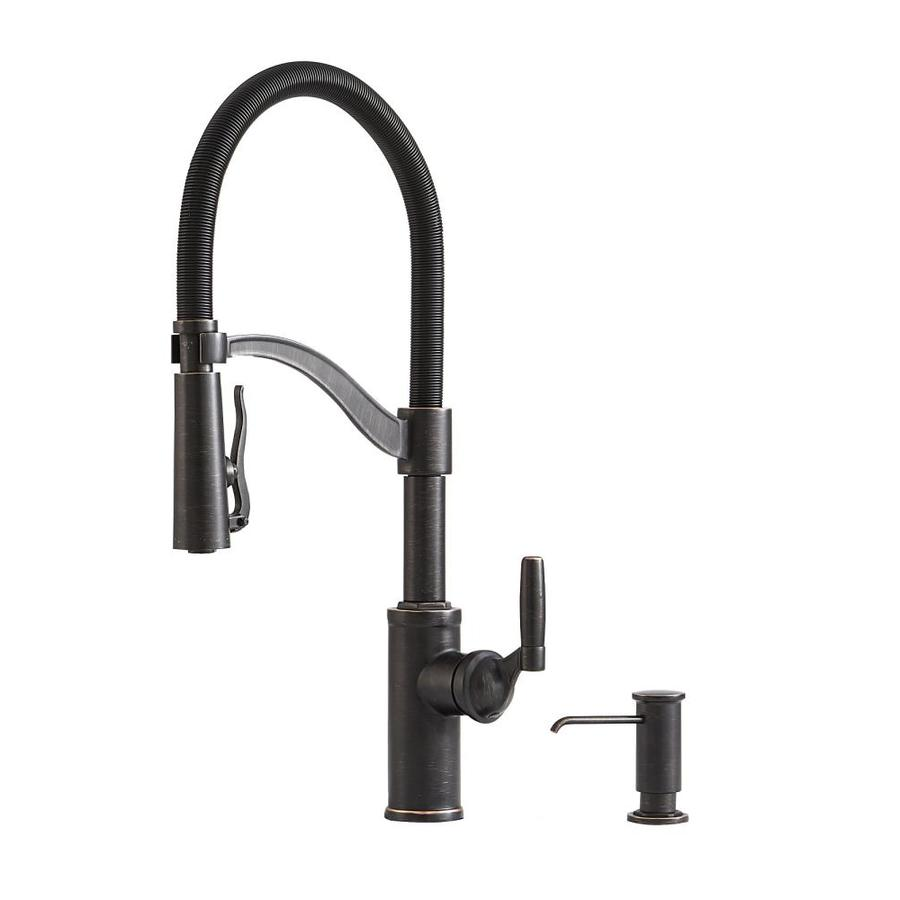 Giagni Pompa Vintage Bronze 1-Handle Pull-Down Kitchen Faucet