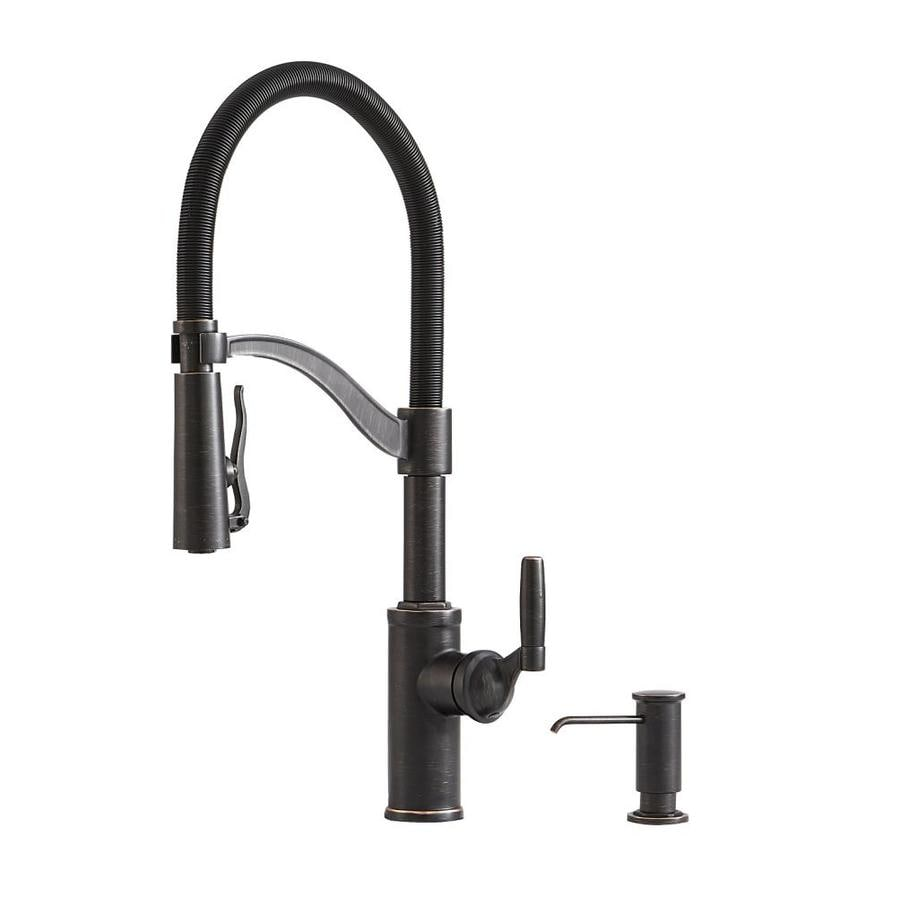 Genial Giagni Pompa Vintage Bronze 1 Handle Deck Mount Pre Rinse Kitchen Faucet