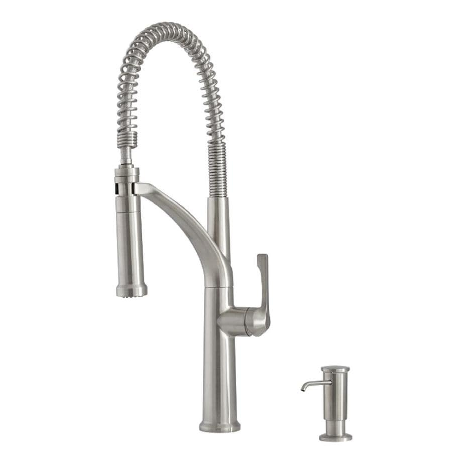 Charmant Giagni Marzano Stainless Steel 1 Handle Deck Mount Pre Rinse Kitchen Faucet