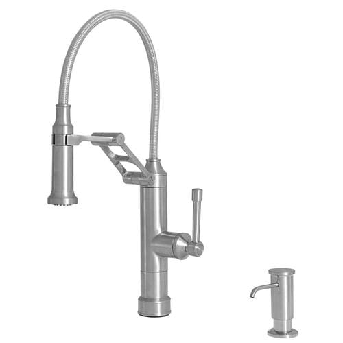 Giagni Strattura Stainless Steel 1-Handle Deck Mount Pull-down  Commercial/Residential Kitchen Faucet at Lowes.com