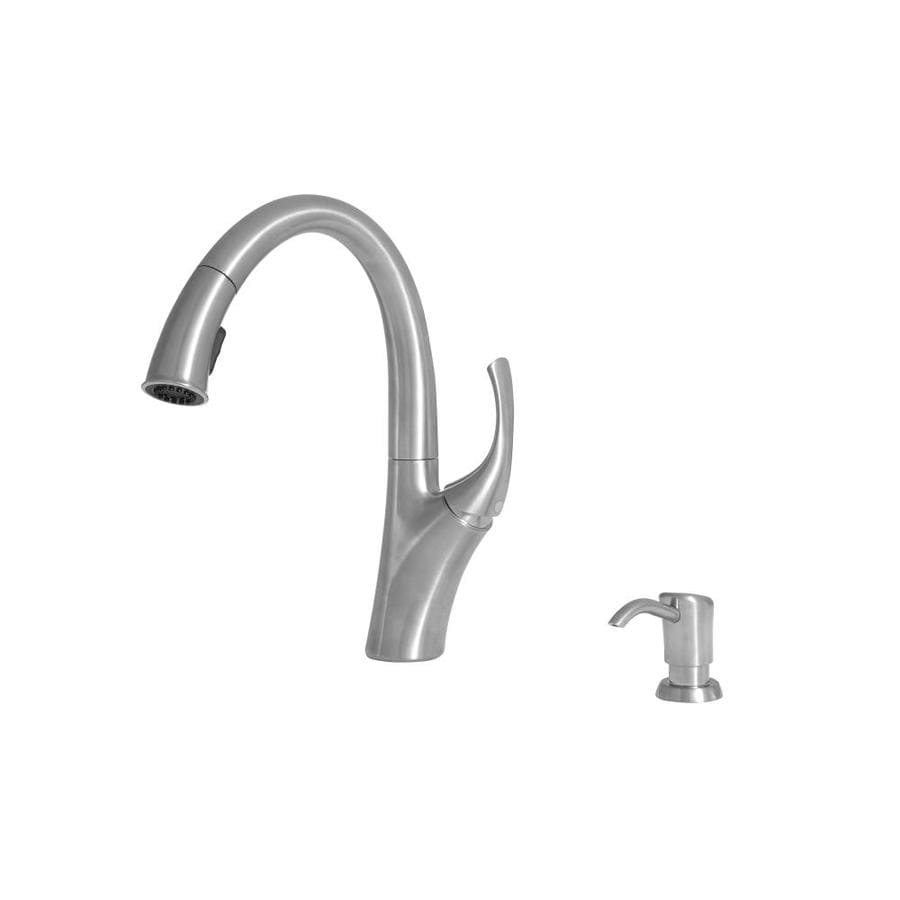 Giagni Spirale Polished Chrome 1 Handle Deck Mount Pull Down Handle Kitchen Faucet Deck Plate Included In The Kitchen Faucets Department At Lowes Com