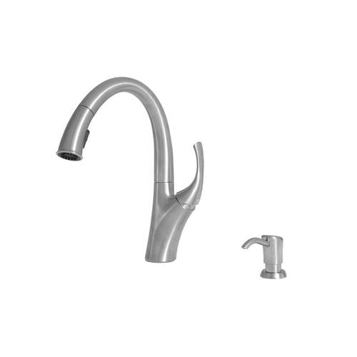Spirale Polished Chrome 1-Handle Deck Mount Pull-down Residential Kitchen  Faucet