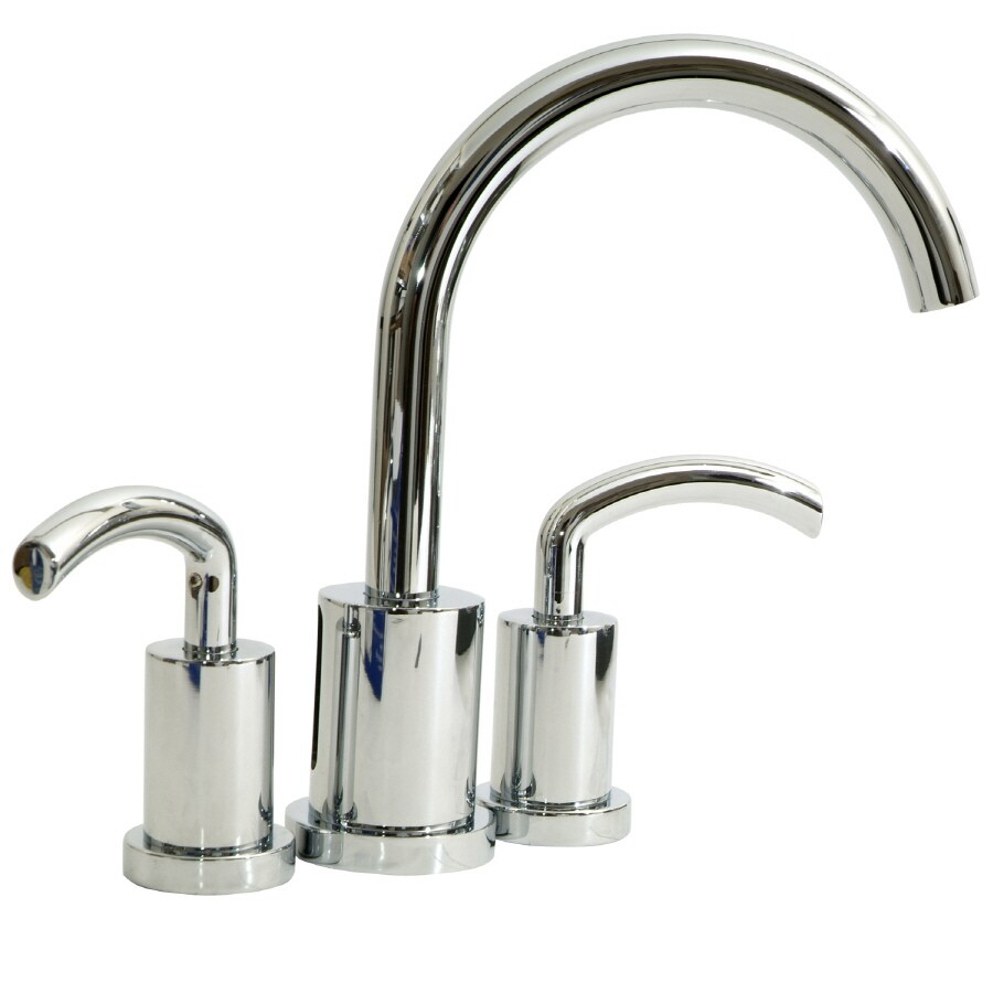 Giagni Polished Chrome 2-Handle 4-in Mini Widespread WaterSense Bathroom Faucet (Drain Included)