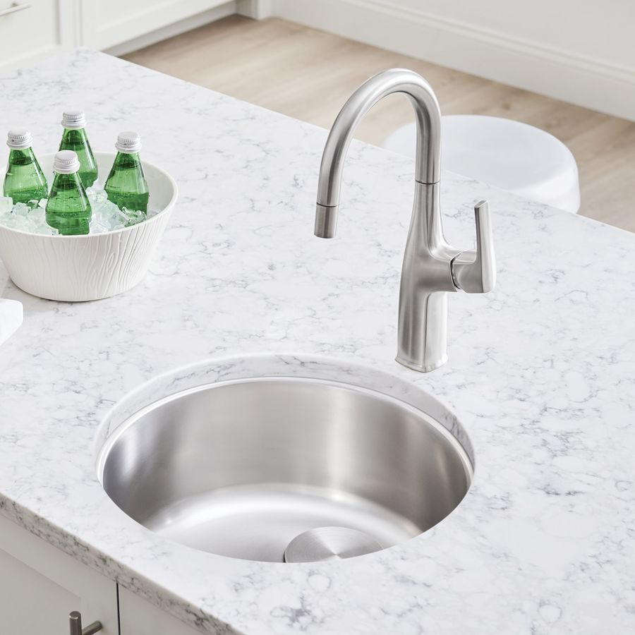 BLANCO Rondo Stainless Steel Drop-in or Undermount Residential Bar Sink