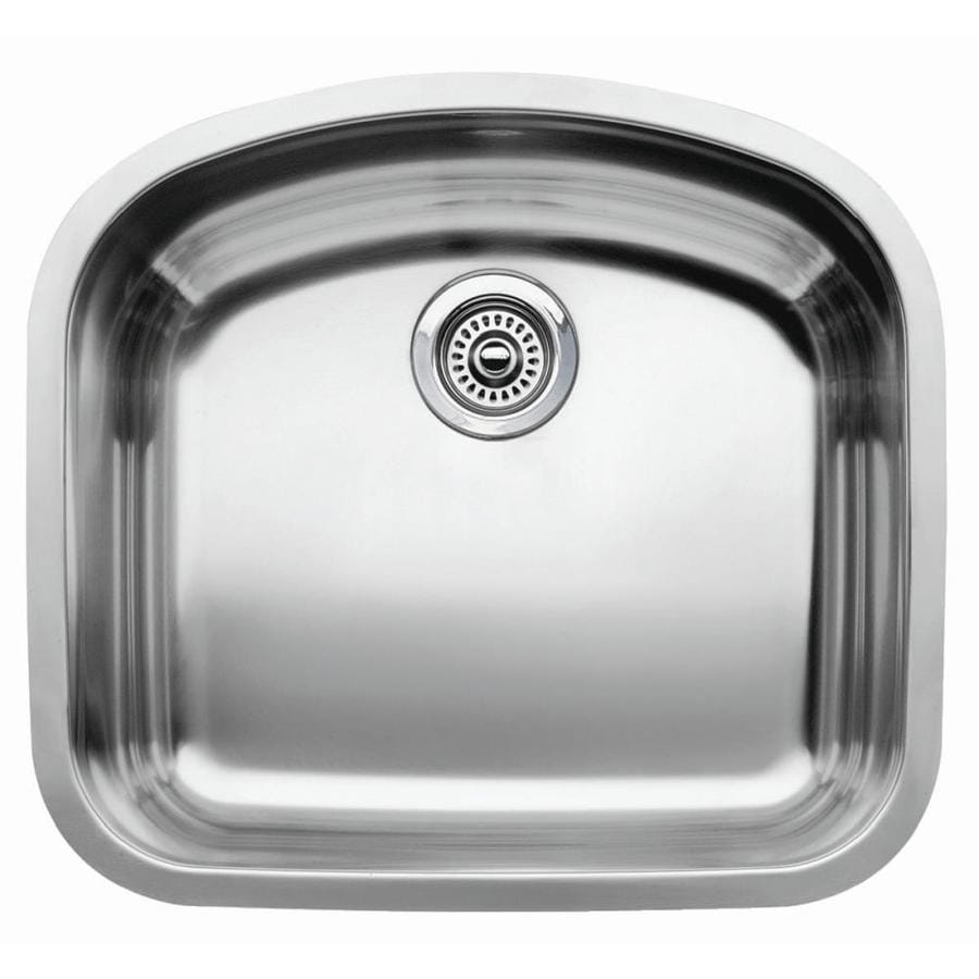 BLANCO Wave 20.43-in x 22.43-in Stainless Steel Single-Basin Undermount Residential Kitchen Sink