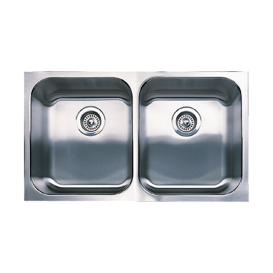 BLANCO Spex 18-in x 31.1200-in Stainless Steel Double-Basin Undermount Residential Kitchen Sink