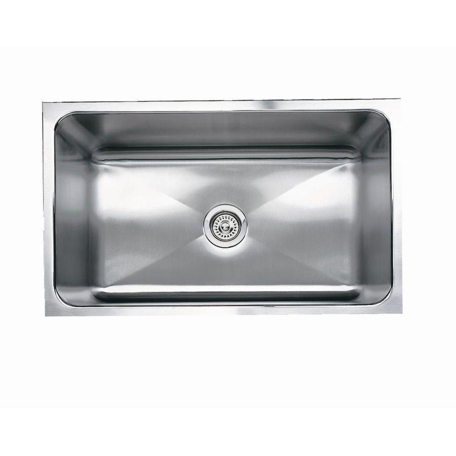 BLANCO Magnum 18-in x 31.25-in Satin Single-Basin-Basin Stainless Steel Undermount (Customizable)-Hole Residential Kitchen Sink