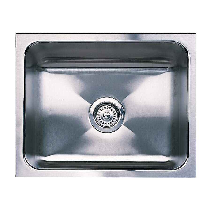 BLANCO Magnum 18-in x 21-in Satin Single-Basin Stainless Steel Undermount Residential Kitchen Sink
