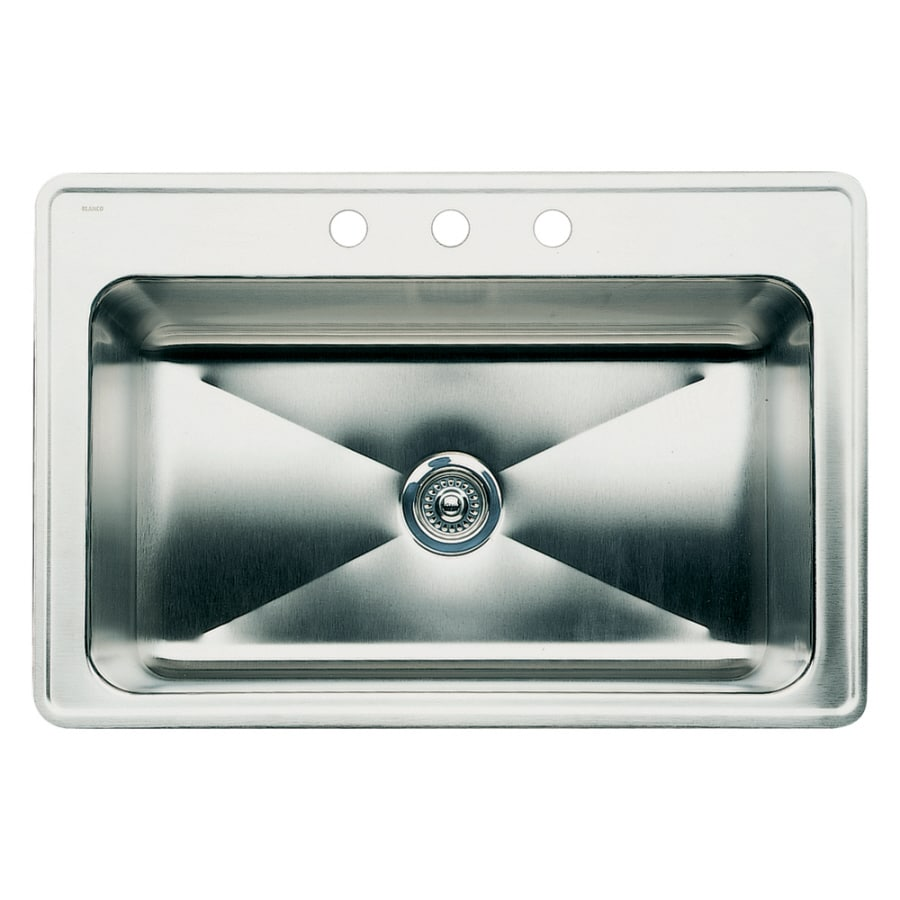 BLANCO Magnum 22-in x 33-in Satin Single-Basin Drop-in 1-Hole Residential Kitchen Sink