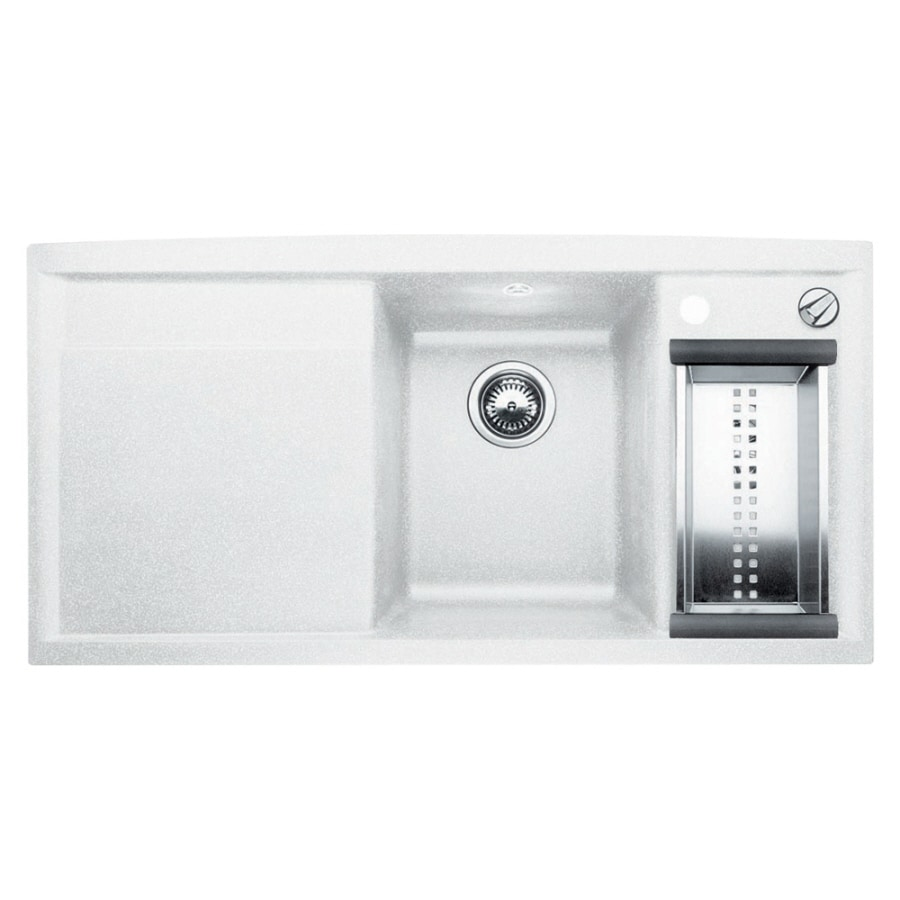 lowes composite granite kitchen sinks shop blanco white 1 basin composite granite 9073