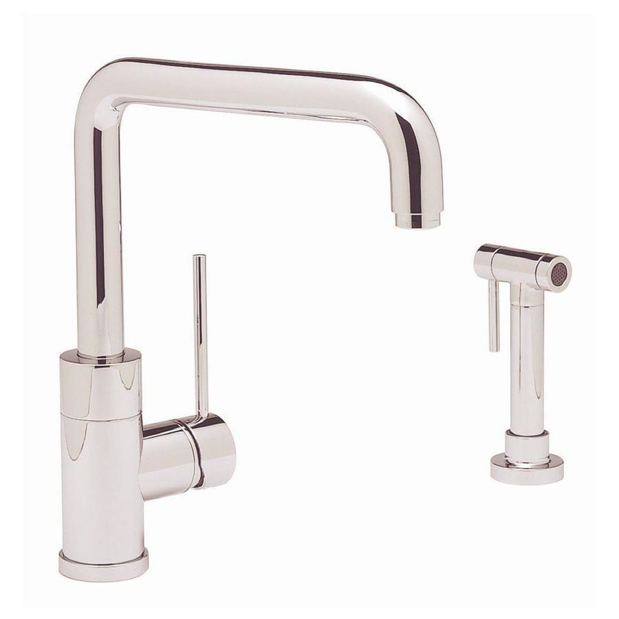 BLANCO Blancopurus I Chrome 1-Handle High-Arc Kitchen Faucet with Side Spray