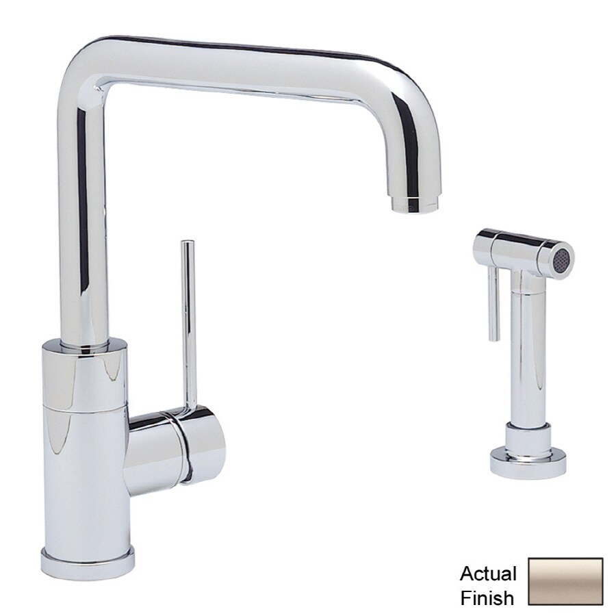 BLANCO Blancopurus I Satin Nickel 1-handle-Handle Deck Mount High-arc Kitchen Faucet