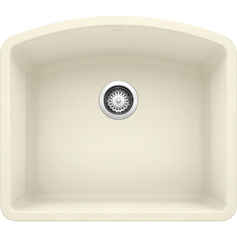 BLANCO Diamond 20.813-in x 24.0-in Biscuit Single-Basin Granite Undermount Residential Kitchen Sink