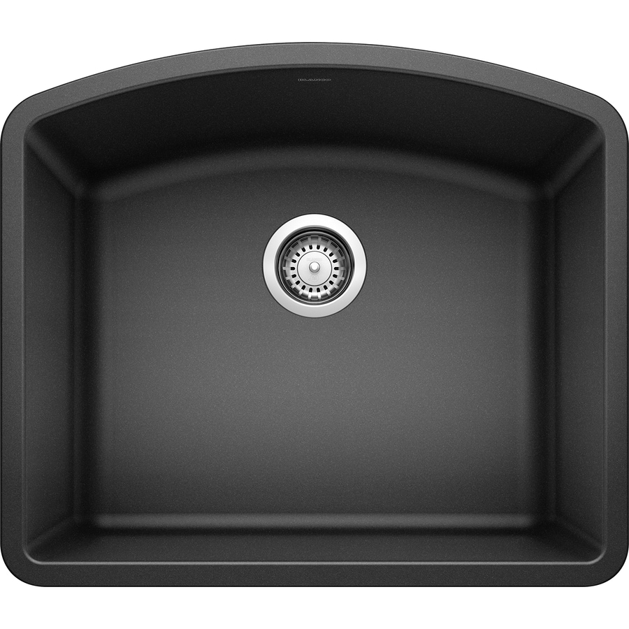 BLANCO Diamond 20.813-in x 24-in Anthracite Single-Basin-Basin Granite Undermount (Customizable)-Hole Residential Kitchen Sink