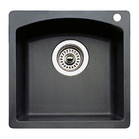 Blanco Diamond Anthracite Black 1 Hole Granite Residential Bar Sink
