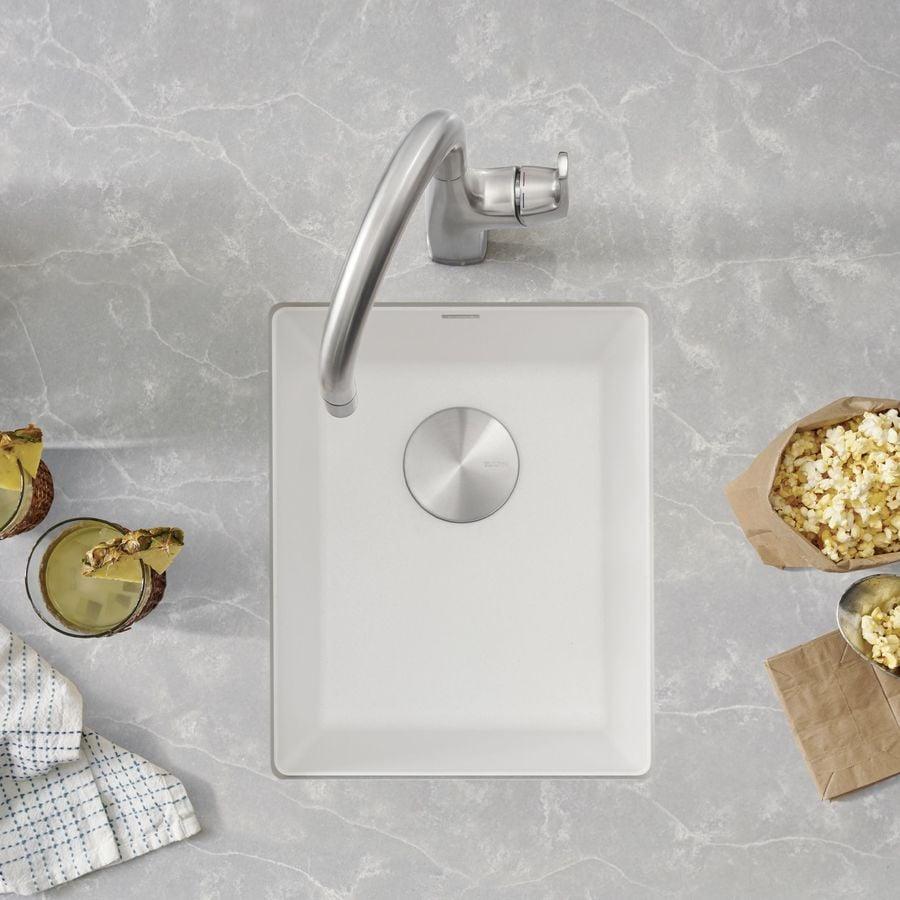BLANCO Precis 18.11-in x 13.78-in White Single-Basin Granite Undermount Residential Kitchen Sink