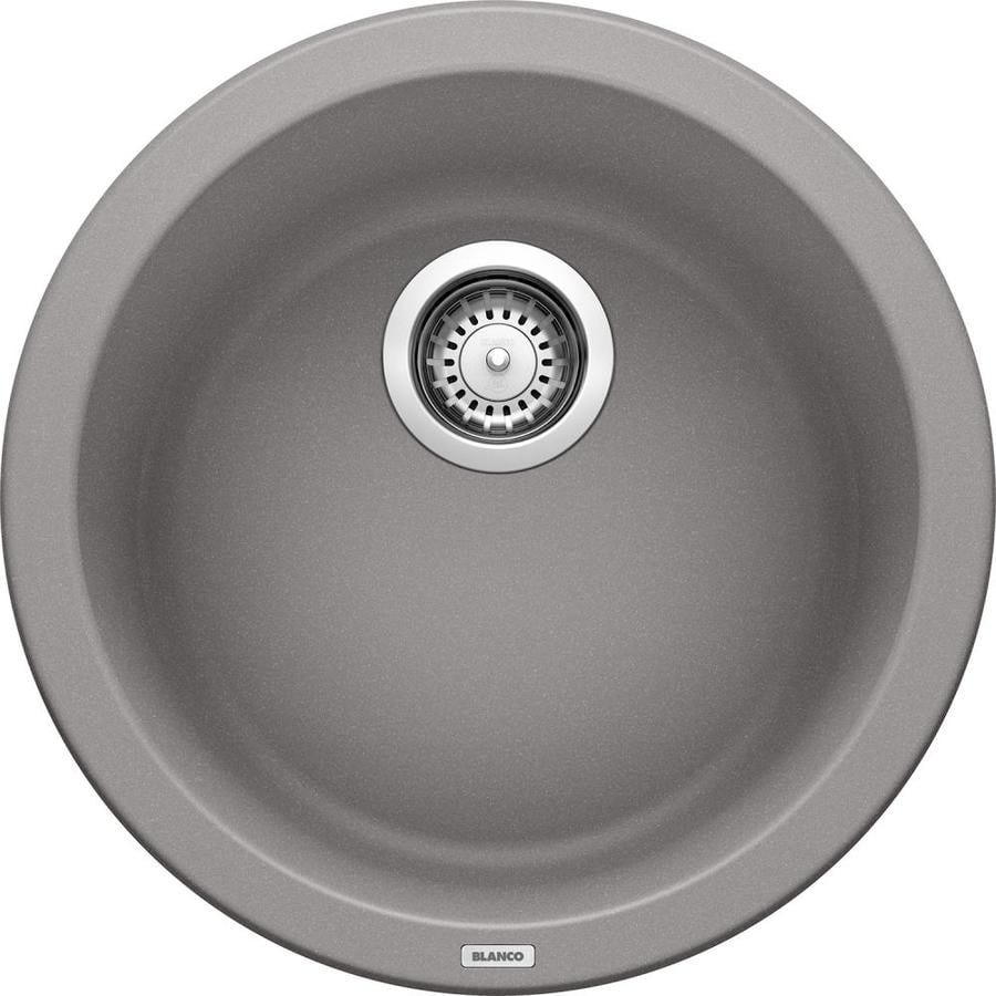 BLANCO Rondo Metallic Gray Single-Basin Granite Drop-In Residential Bar Sink