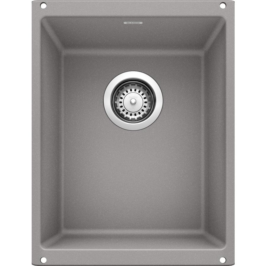 BLANCO Precis 18.11-in x 13.78-in Metallic Gray Single-Basin Granite Undermount Residential Kitchen Sink