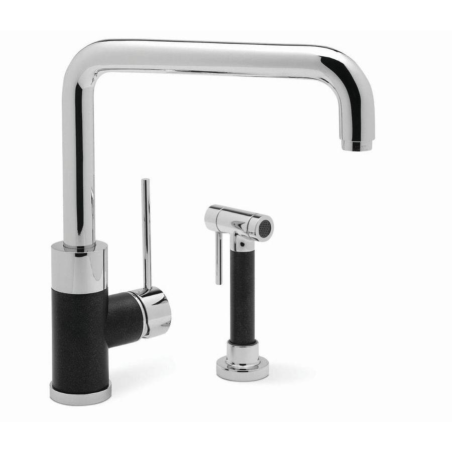 BLANCO Blancochelsea Anthracite/Chrome (Black) 1-Handle Deck Mount High-Arc Kitchen Faucet