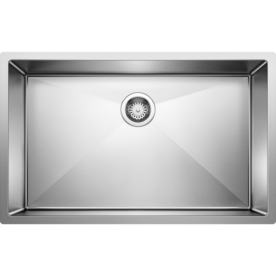 BLANCO Precision 20-in x 32-in Satin Polished Single-Basin Undermount Residential Kitchen Sink