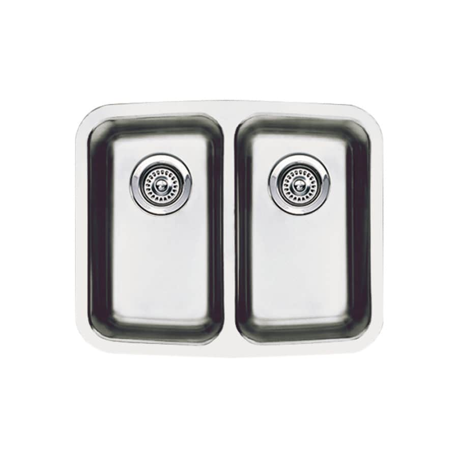 shop blanco performa stainless steel doublebasin stainless steel  - blanco performa stainless steel doublebasin stainless steel undermount barsink