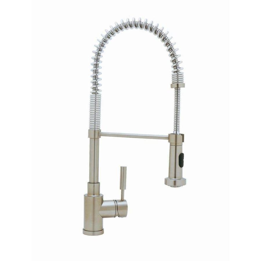 BLANCO Blancomeridian Satin Nickel 1-Handle Pull-Out Kitchen Faucet
