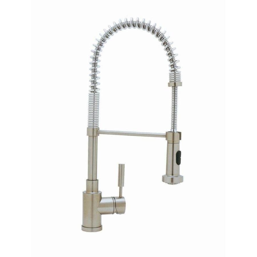 BLANCO BlancoMeridian Satin Nickel 1-Handle Deck Mount Pull-Out Kitchen Faucet