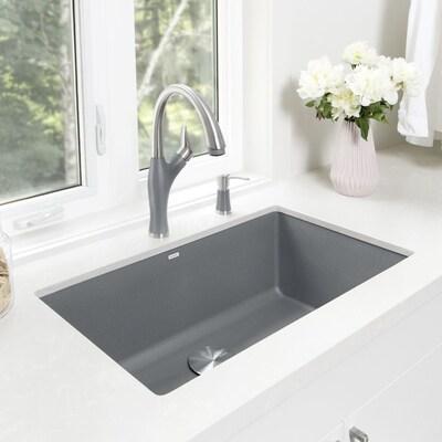 Precis 32 In X 19 Metallic Gray Single Bowl Undermount Residential Kitchen Sink