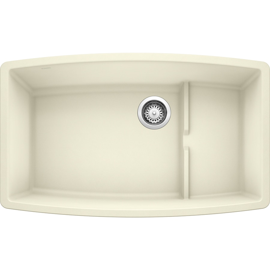BLANCO Performa 19.5-in x 32-in Biscuit Single-Basin Granite ...