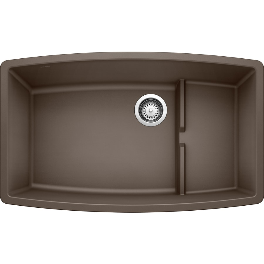 BLANCO Performa 19.5-in x 32-in Cafe Brown Single-Basin Granite Undermount Residential Kitchen Sink