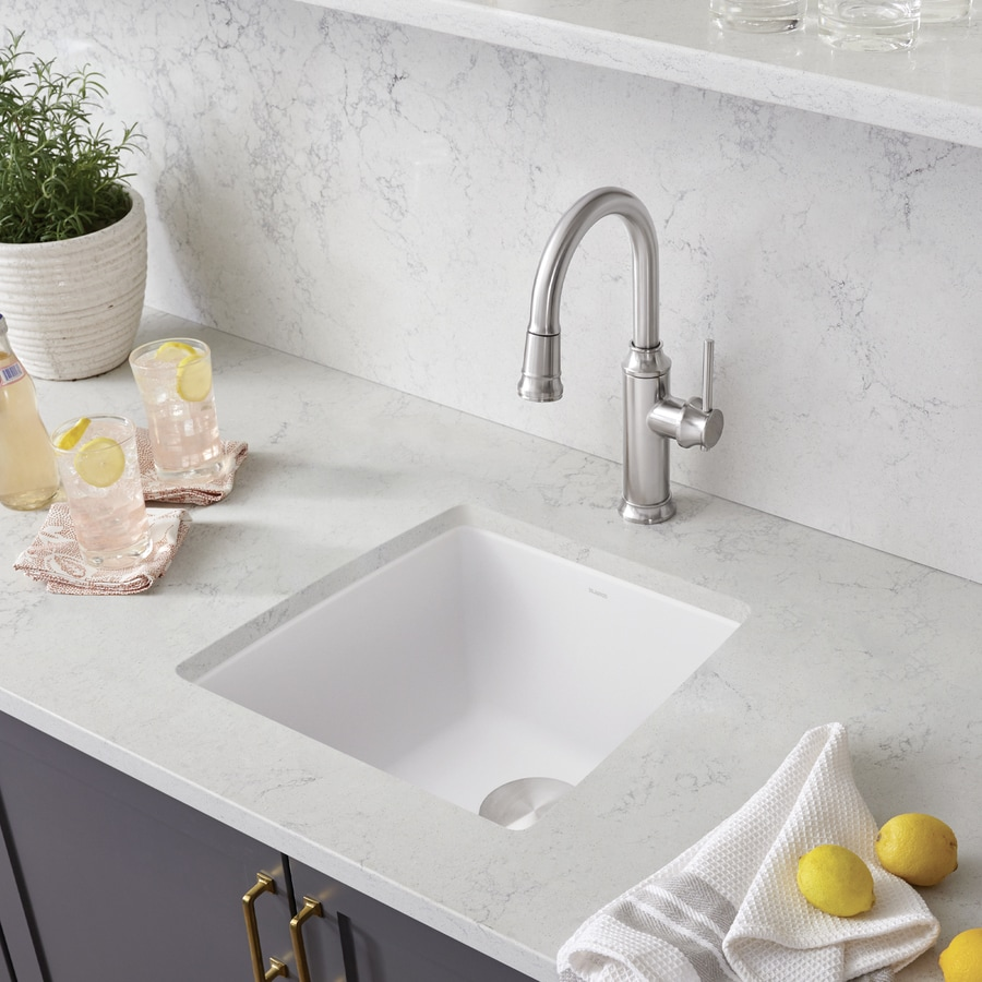 BLANCO Performa 17-in x 17.5-in White Single-Basin Granite Undermount Residential Kitchen Sink