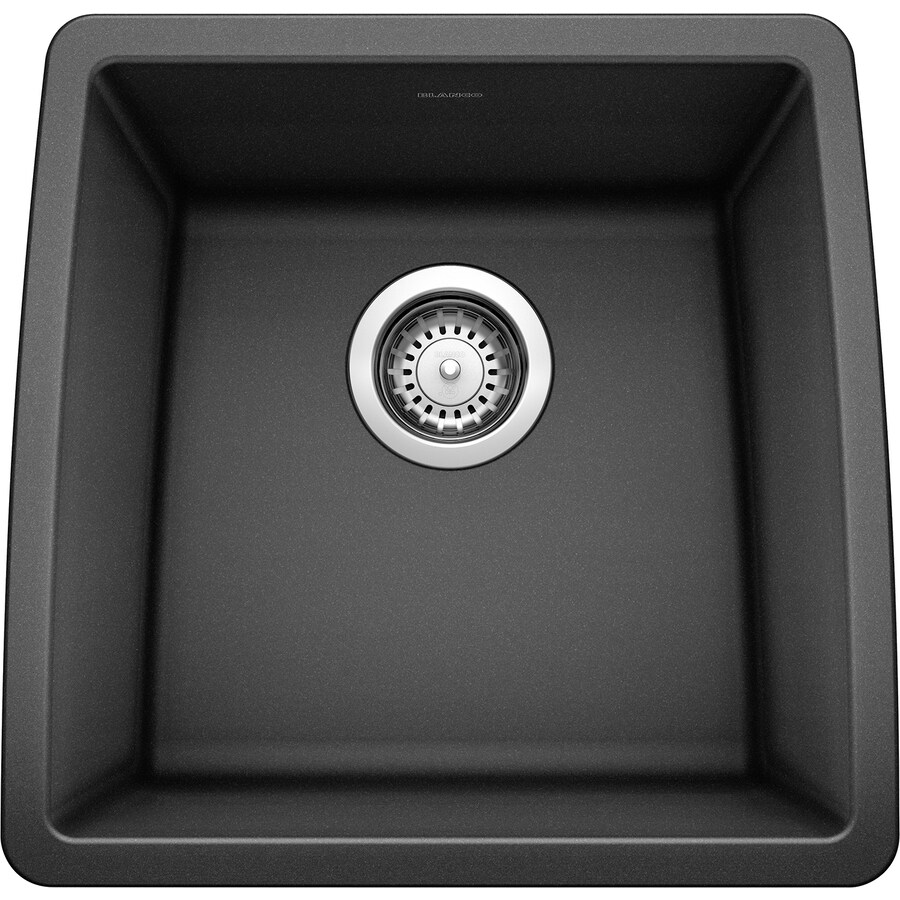 BLANCO Performa 17-in x 17.5-in Anthracite Single-Basin Granite Undermount Residential Kitchen Sink