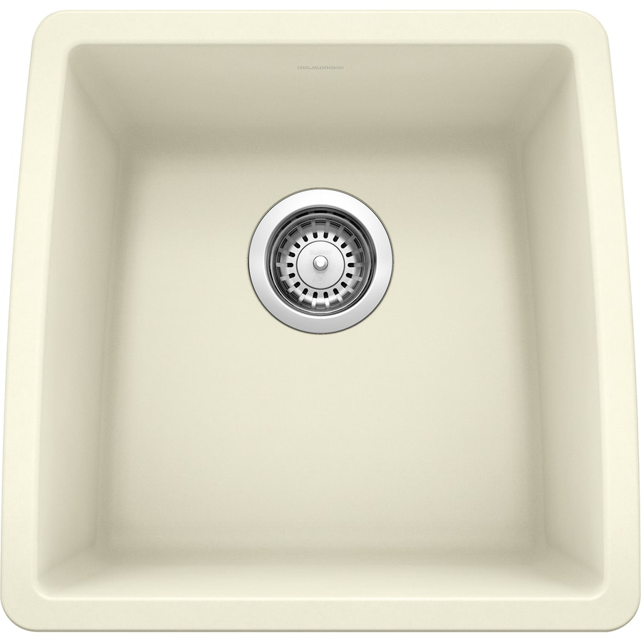 BLANCO Performa 17-in x 17.5-in Biscuit (Off-white) Single-Basin Granite Undermount Residential Kitchen Sink