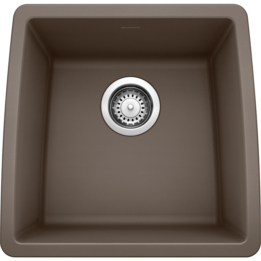 BLANCO Performa 17.0-in x 17.5-in Cafe Brown Single-Basin Granite Undermount Residential Kitchen Sink