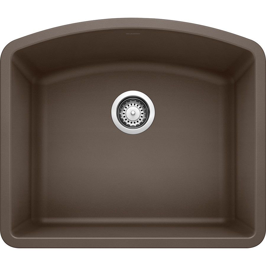 BLANCO Diamond 20.813-in x 24-in Cafe Brown Single-Basin Granite Undermount Residential Kitchen Sink