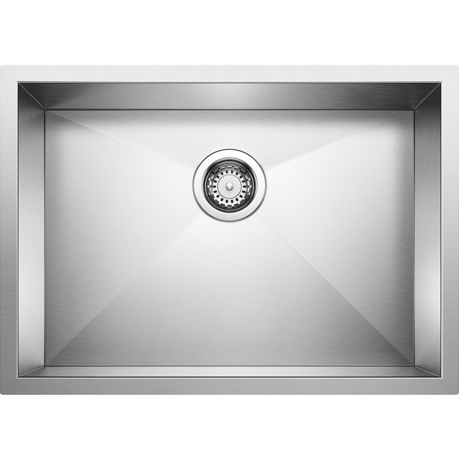 BLANCO Precision 18-in x 25-in Stainless Steel Single-Basin-Basin Stainless Steel Undermount (Customizable)-Hole Residential Kitchen Sink