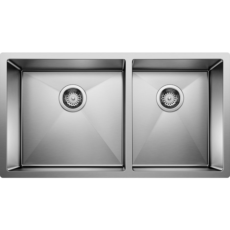 BLANCO Precision 18-in x 33-in Stainless Steel Single-Basin-Basin Stainless Steel Undermount (Customizable)-Hole Residential Kitchen Sink