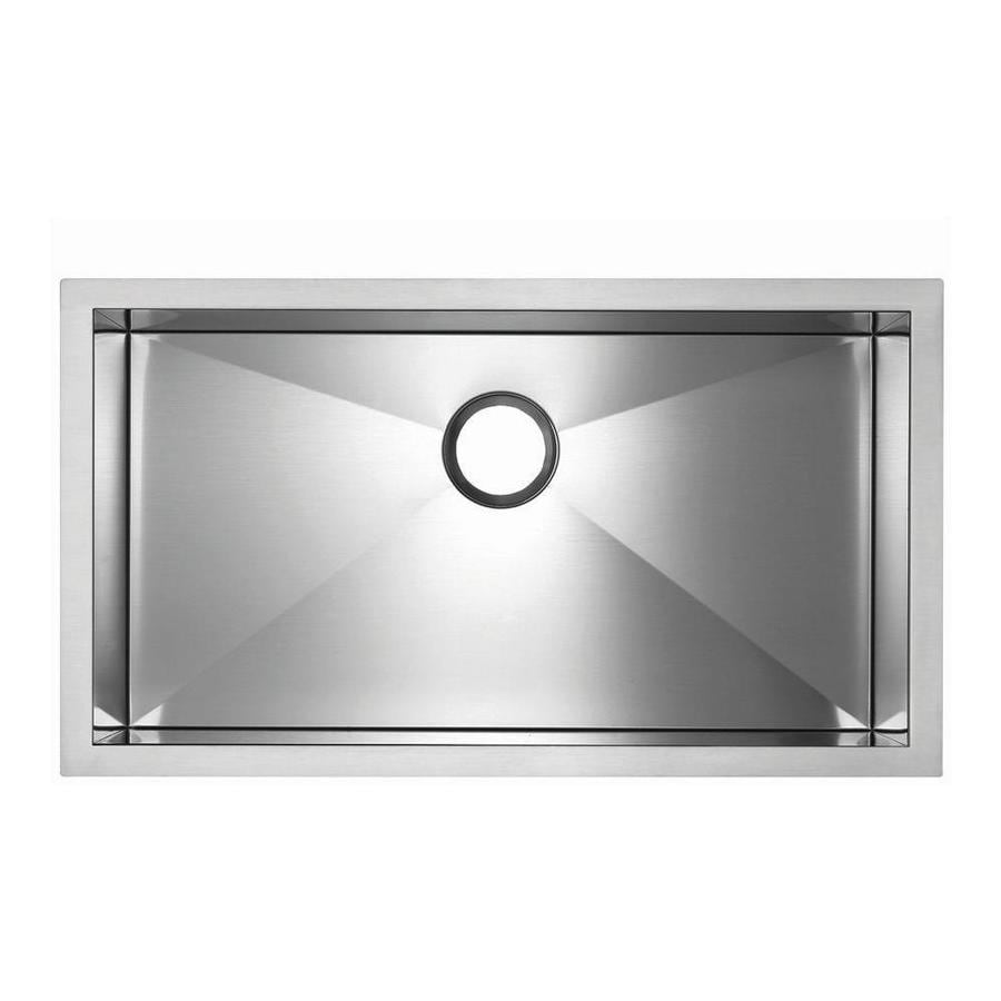 BLANCO Precision Microedge 18.0000-in x 32.0000-in Single-Basin Stainless Steel Drop-in Residential Kitchen Sink