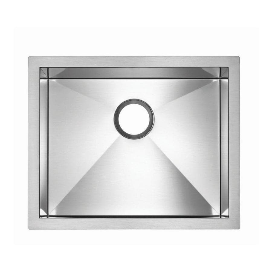 BLANCO Precision Microedge 18-in x 22-in Stainless Steel Single-Basin Drop-in Residential Kitchen Sink