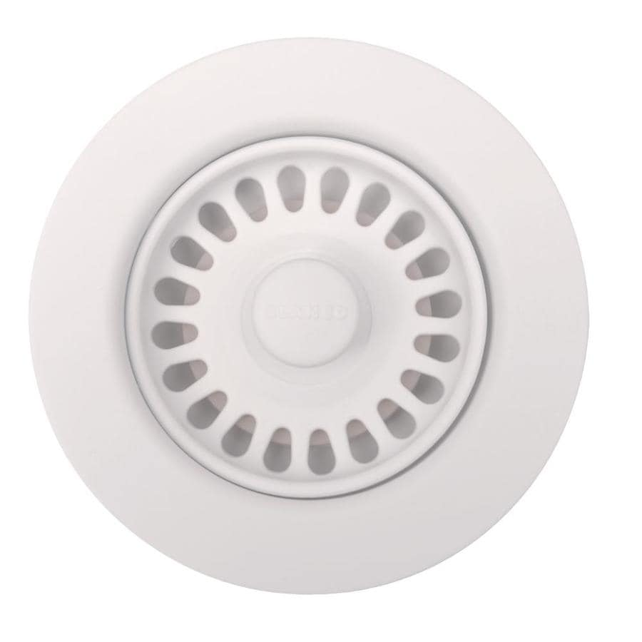BLANCO 4.5-in White Plastic Fixed Post Kitchen Sink Strainer