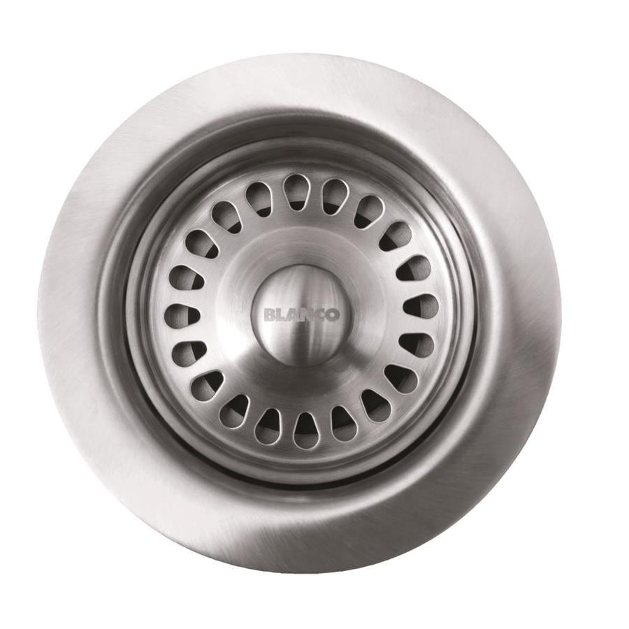 BLANCO 4.5000-in Satin Nickel Stainless Steel Fixed Post Kitchen Sink Strainer