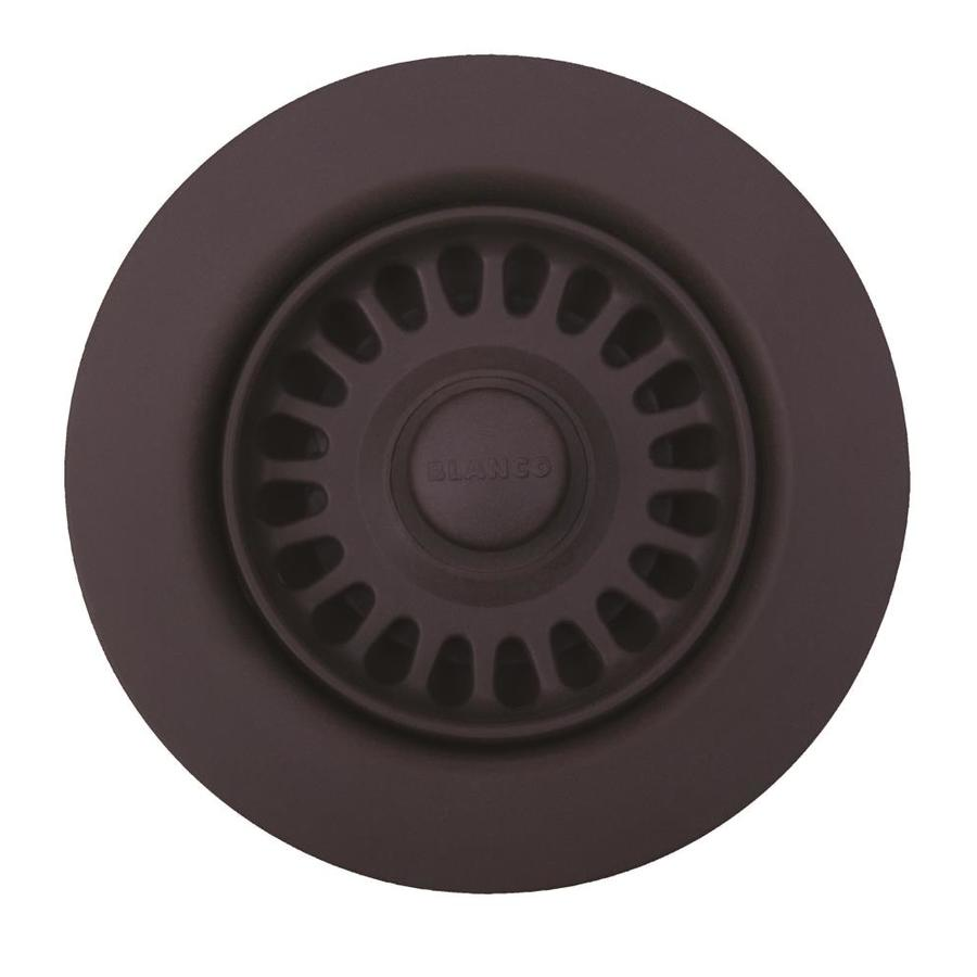 BLANCO 4.5 In Cafe Brown Plastic Fixed Post Kitchen Sink Strainer