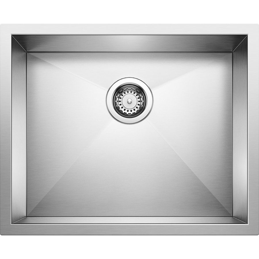 BLANCO Precision 18-in x 22-in Satin Polished Single-Basin Stainless Steel Undermount Residential Kitchen Sink