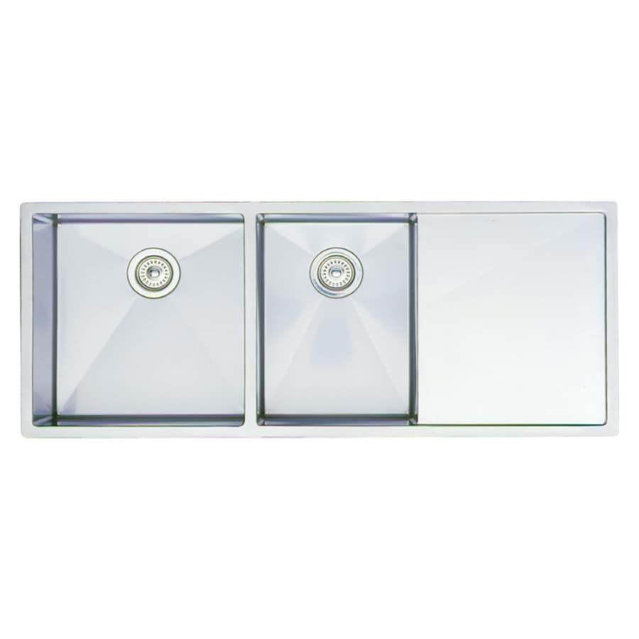 BLANCO Precision 18-in x 48-in Stainless Steel Double-Basin Undermount ...