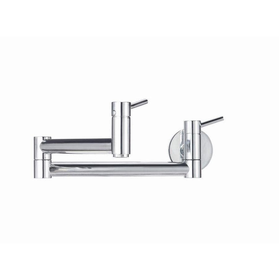 Shop Blanco Cantata Chrome 1 Handle Handle Wall Mount Pot Filler Kitchen Faucet At